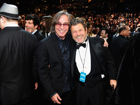 Jackson Browne (left) and Jann Wenner attend the 29th