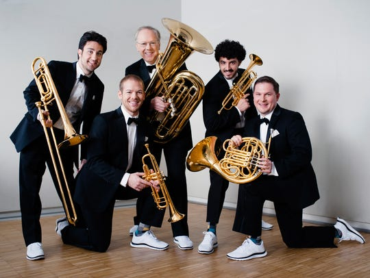 Canadian Brass performs with the Milwaukee Symphony at the Marcus Center Nov. 29.