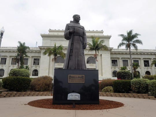 A rally is scheduledfor 1 p.m. in front of Ventura City Hall to demand that a statue of Father Junipero Serra be removed. Some historians and others blame Serra for what they say was his role in the premature deaths of thousands of Native Americans in California.