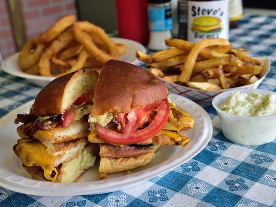 American Chicken Cutlet with mayo, bacon, lettuce and tomato at Steve's Burgers in Garfield.