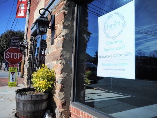 Sassafras on Sutton, a gift shop, coffee shop and bookstore,