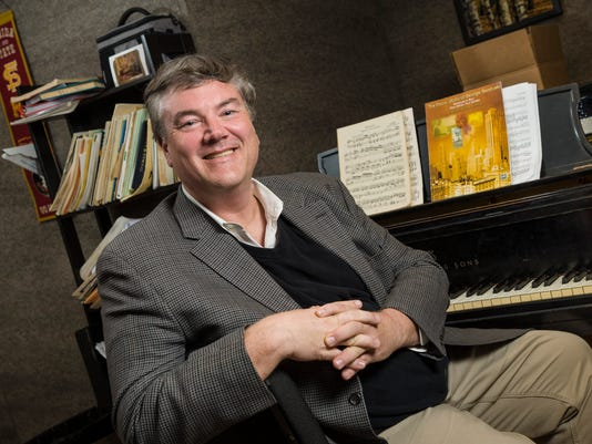 19569 Jim Hannah, Music Professor Steven Aldridge 10-18-17