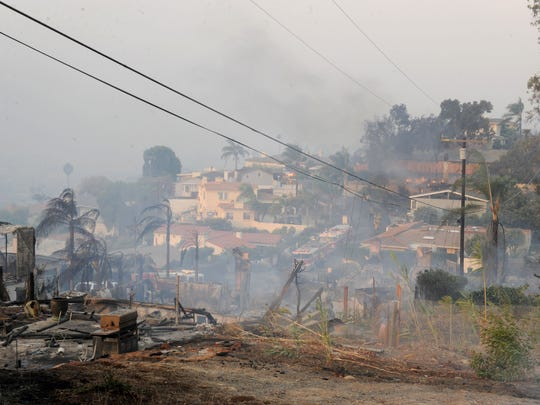 The Thomas Fire burned through a Ventura hills neighborhood.