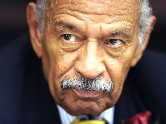 Rep. John Conyers, D-Detroit, speaks during a House Judiciary subcommittee hearing on June 4, 2017.