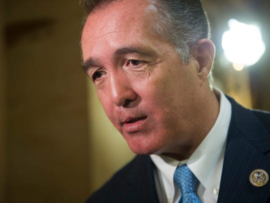In this March 24, 2017, file photo, Rep. Trent Franks,