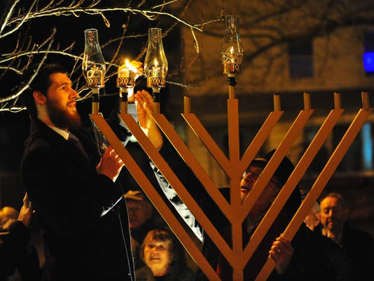 Gurkov menorah lighting 2011