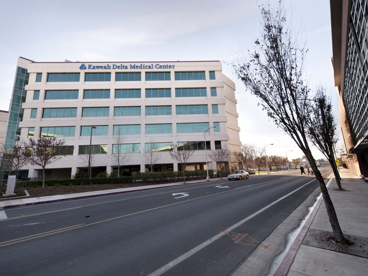 Views of Kaweah Delta Medical Center on Tuesday, January