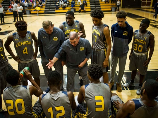 Lehigh Acres High School played against Loyola Academy in the semi-finals of the Gulfshore Holiday Hoopfest at Golden Gate High School on December 29, 2017.
