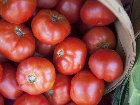 Jersey tomatoes from South Jersey farm stands.