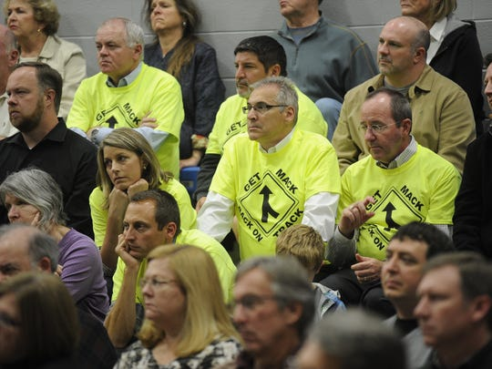 More than 400 Franklin residents showed up for a 2013 meeting on the Mack Hatcher Parkway extension.  Sanford Myers / File / The Tennessean