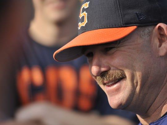 COS Giants head baseball coach Jody Allen is approaching