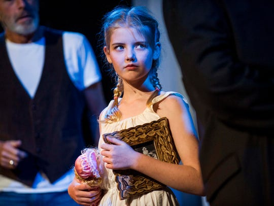 Carly Barnes acts as Mary Lennox during a dress rehearsal