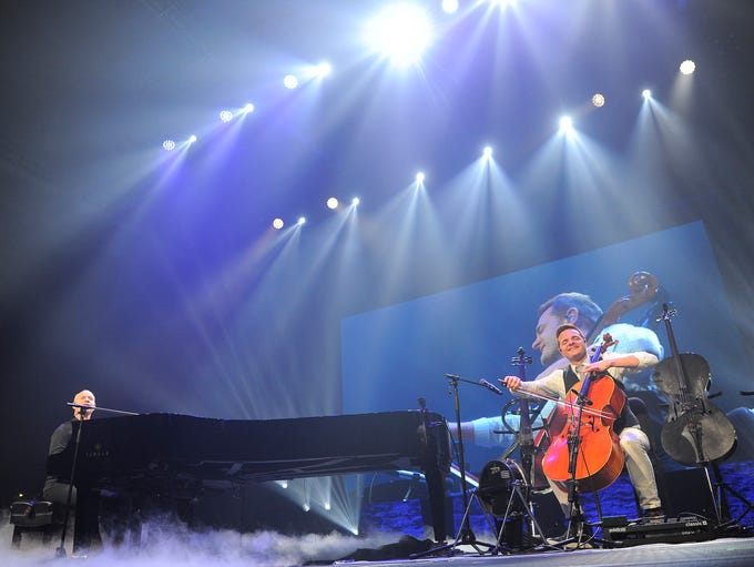 The Piano Guys Perform on stage at the America First