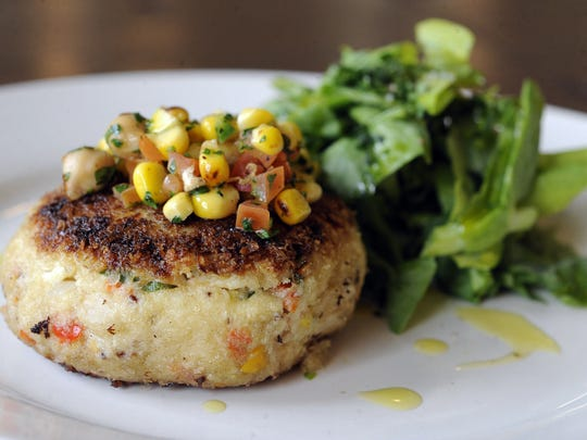 Crab cake salad from the Old Granite Street Eatery.