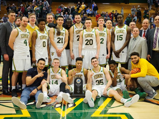 Vermont celebrates the America East regular season