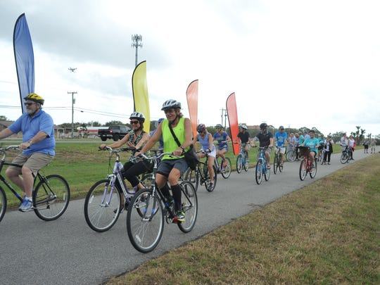 Riders inaugurate The Titusville trail  that is part