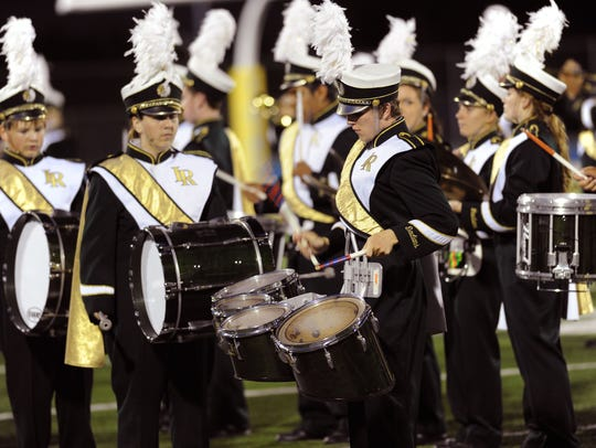 The Indian River marching band entertains the crowd