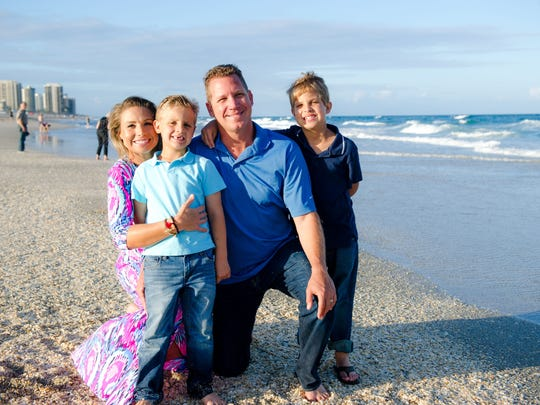 """""""We have a new appreciation for our lives and the time we have together,"""" said Jen Nolin, pictured with her family."""