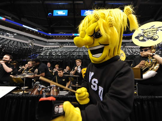 This is the Wichita State Shockers mascot. Yes, it's scary.