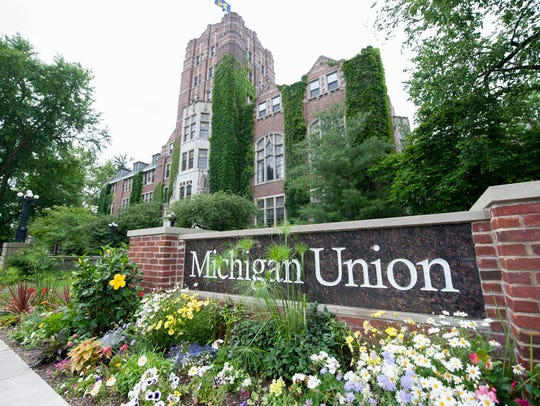 Exterior of the Michigan Union at the University of