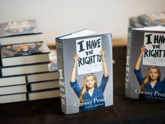 "Chessy Prout's book titled ""I Have the Right To: A"