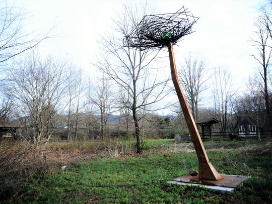 "Julia C. Burr's sculpture ""Wild Things"" was unveiled"
