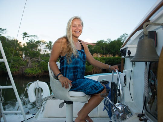 """My best OMG moment was swimming with spotted dolphin in the Bahamas,"" Sierra Groth says. ""We put down anchor and just dove in with them."""