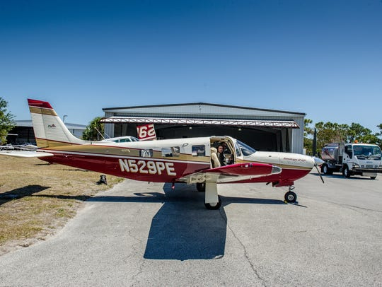 The couple took their lessons at Treasure Coast Flight