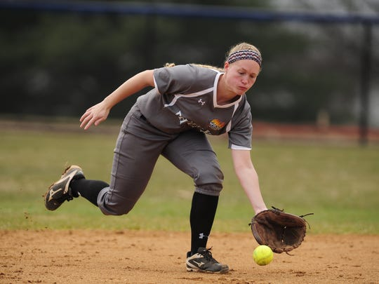 Alison Shockey fields a grounder for Wilson.