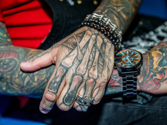 """""""I got my first tattoo at age 17 with my. Mom, and it was Yosemite Sam,"""" says Joe da Barber. """"A week later, I went back and got a tarantula with a skull head - and it's been non-stop since."""""""