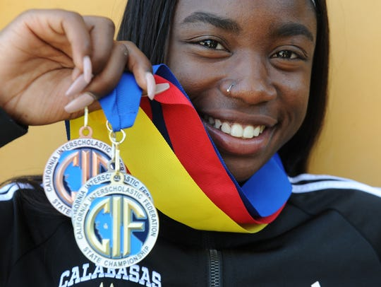 Calabasas High's De'Anna Nowling has racked up sectional