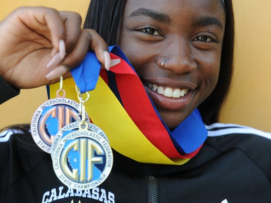 Calabasas High's De'Anna Nowling has racked up sectional titles and added her first state title in the 100 in her junior season.