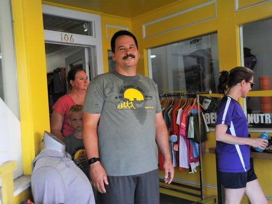 Dennis Gregory heads home from Vertical Runner on June