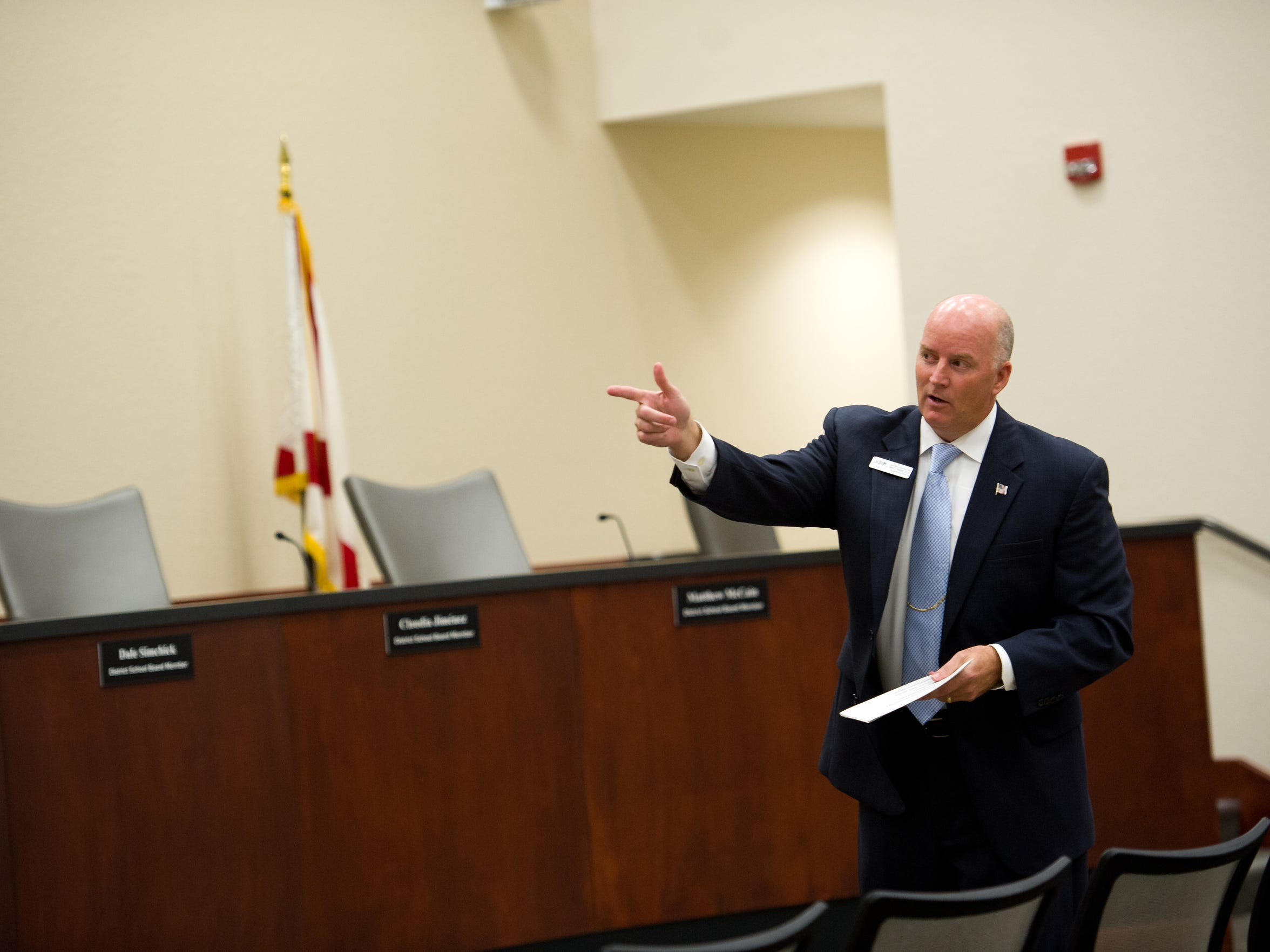 Indian River County School District Superintendent Mark Rendell, shown here in 2016, assured the School Board he will comb through the 2018-19 budget.