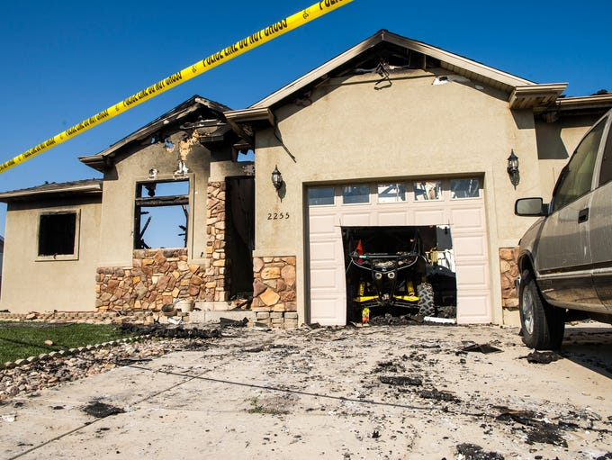 A Cedar City house that caught fire Aug. 12, 2018,