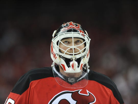 In this April 14, 2010 file photo,  Devils goalie Martin