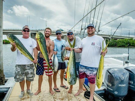 "Sean Mahoney, Ryan Mahoney, Nick Askey, Capt. Mike Tucker, Connor Lewis and ""Island Lure"""