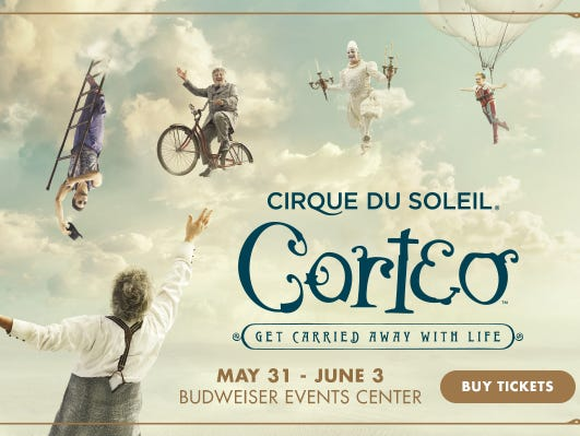 Corteo comes to Loveland 5/31- 6/3. Enter to win a pair of tickets 5/14-5/24.