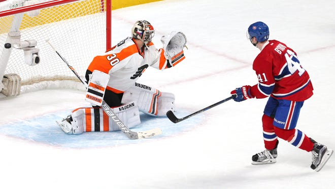 Montreal's Paul Byron scored the game-winning goal against the Flyers, who are 2-6 this year in shootouts.
