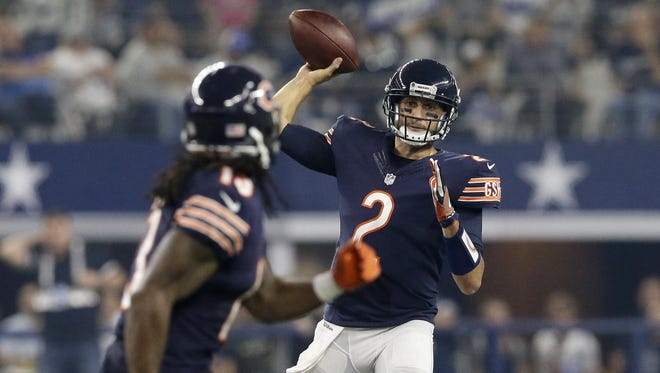 With Jay Cutler recovering from injury, quarterback Brian Hoyer (MSU) is expected to start for the Bears on Sunday.
