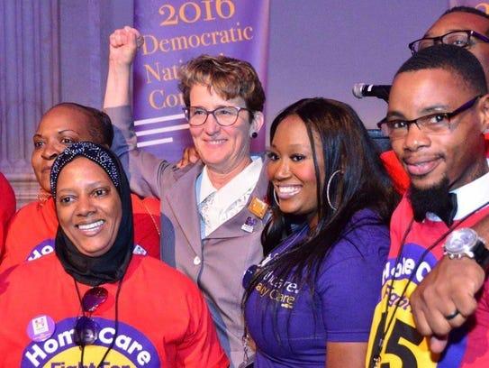 Detroit native Mary Kay Henry, president of the SEIU,