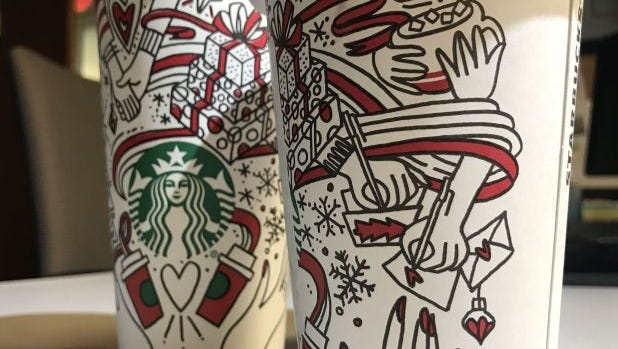 Starbucks is offering its BOGO holiday drink deal from Nov. 9-13.