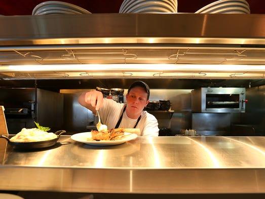 Brian Dennis, a chef at 801 Chophouse in Des Moines,