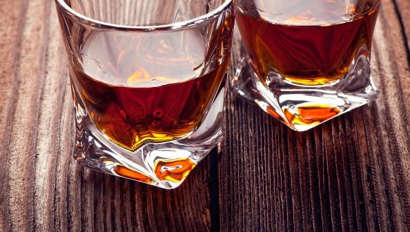Whiskey Bourbon in a Glass