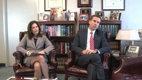 Attorney General Beau Biden with State Prosecutor Kathy Jennings last year.