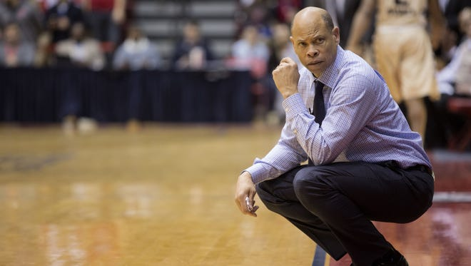 Georgia State announced the hiring for former Central and Ball State star Ray McCallum on Wednesday. Here, he coaches Detriot at Calihan Hall on Saturday, Jan. 16, 2015.