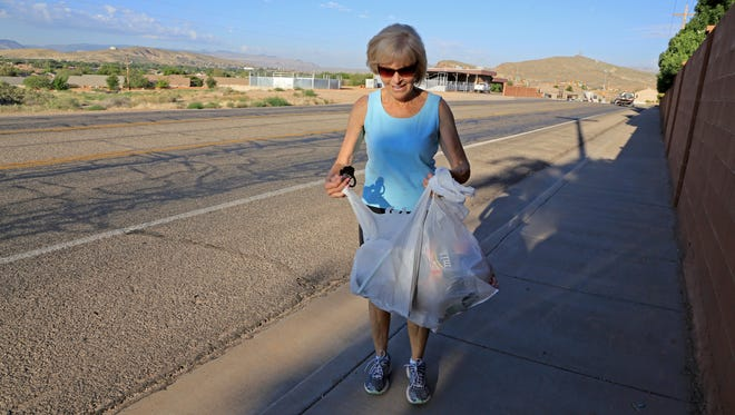 For more than a decade, Linda Goduto has been picking up roadside litter around her neighborhood in the Little Valley area of St. George.