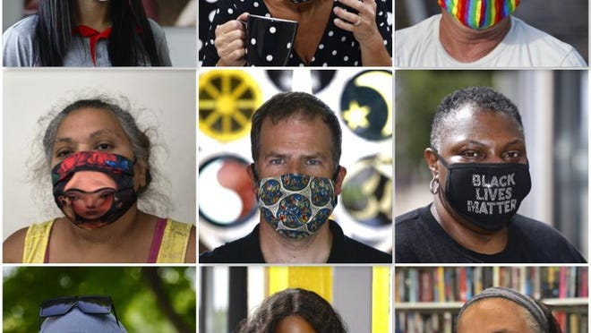 This summer, we photographed a few dozen people in unique or colorful masks and asked them what made them choose that particular face covering.