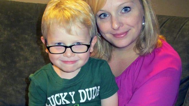 Free Press columnist Kristen Jordan Shamus and her son Sam, 3.