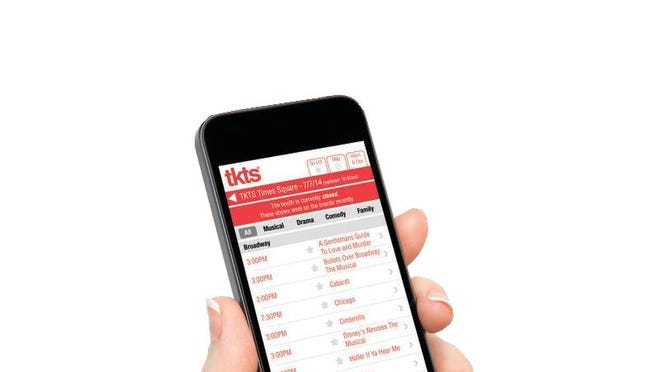 The TKTS app provides a list of which New York City live theater shows are offering discounted tickets for that night's performance.